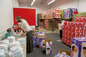 The Junior League of Champlain Valley Diaper Bank warehouse