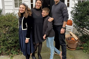 Alison and her family on Thanksgiving in 2019