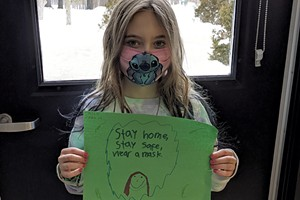 """""""Stay home, stay safe, wear a mask,"""" Cassie"""