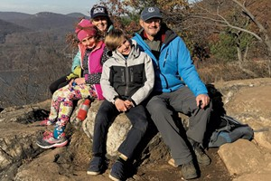 Alison's parents and kids on a hike in New York during pre-pandemic times