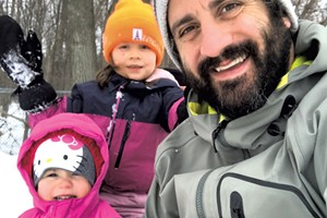 Keegan and his daughters enjoy some outdoor time