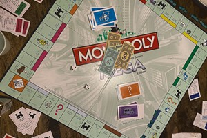 The Novak family's Monopoly board