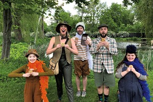 The cast of A Year With Frog and Toad at Shelburne Museum