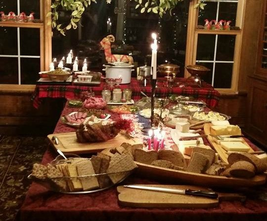 The julbord, or Swedish Christmas table - ASTRID LAGUE