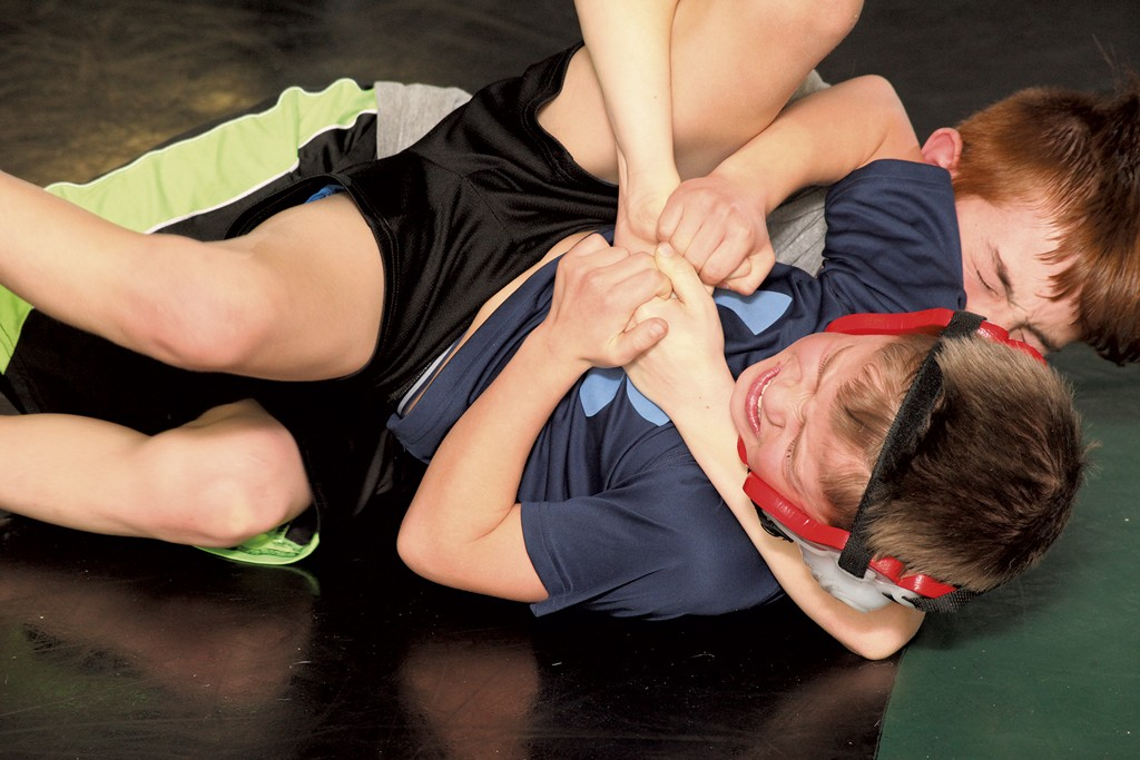 click to enlarge Keegan Vance and Sawyer Prouty at practice. - MATTHEW  THORSEN