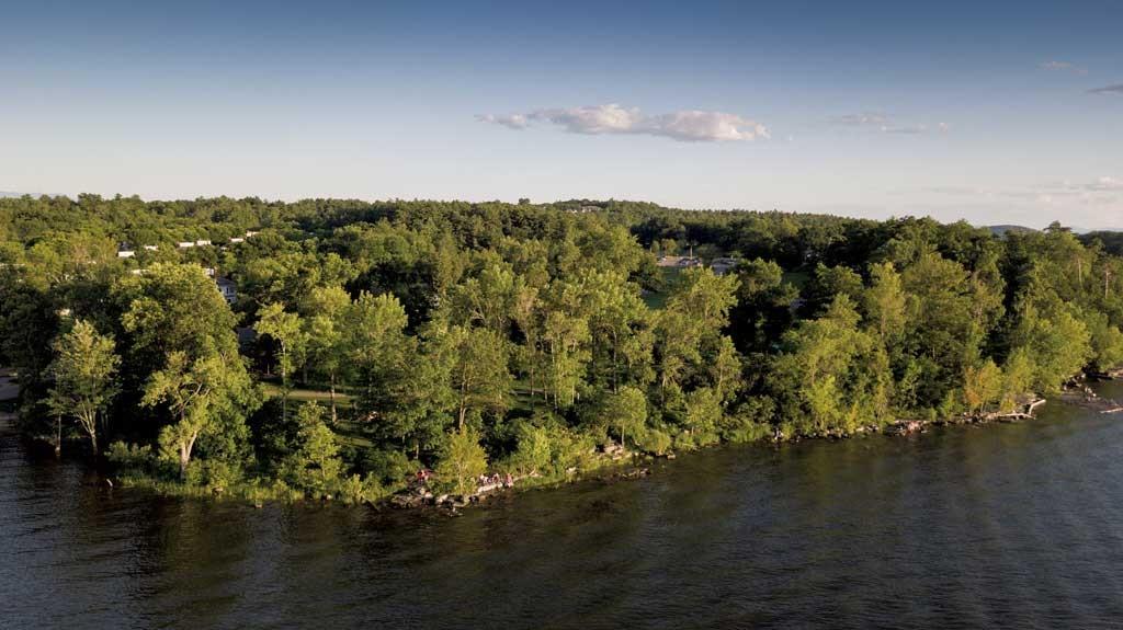 Red Rocks Park from Lake Champlain - JAMES BUCK