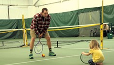 Family Play Day at Middlebury Indoor Tennis Hits All the Marks