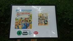 Fletcher Free Library Posts StoryWalk at Leddy Park