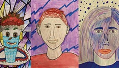 South Burlington Students Create Inspired Portraits