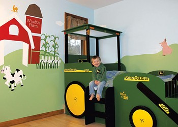 Habitat: Farm-Themed Bedroom With Tractor Bed