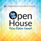 Pop-Up Open House Hosted by Champlain College Online