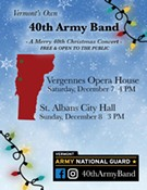 'Vermont's Own' 40th Army Band Christmas Concert