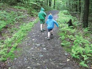 Will and Cullen Mezitt on the Stevenson Brook Trail