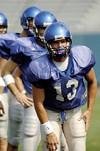 #13: senior quarterback Martin Hankins