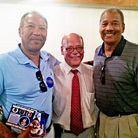 """Separated at Birth 2: 9th District congressman Steve Cohen sandwiched by """"brothers frojm other mothers"""" Michael Edwards and state Rep. Larry Miller JB"""