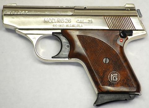 A .25-caliber RG25 handgun