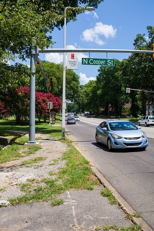 A better entrance and paved path will be added to the Poplar and Cooper intersection in Overton Park.