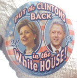 A button being sported these days by Clinton backers - JB
