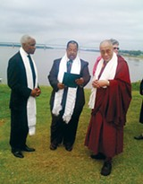 A C Wharton, Myron Lowery, and the Dalai Lama