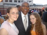JB - A C Wharton with two young admirers