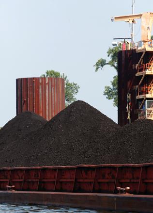 A coal shipment at TVAs Allen Fossil Plant