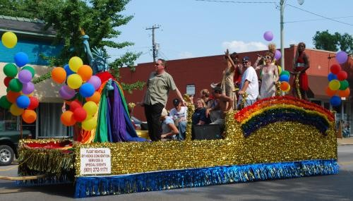 A Crossroads float from the 2009 Mid-South Pride parade.