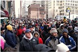 AFRO.COM - A crowd in Baltimore awaits Obama's train last weekend.