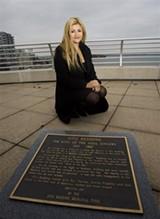 IMAGE: AP - A marker commemorating the site of the plane crash that killed Otis Redding