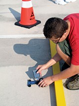A participant in last year's MLGW solar car race
