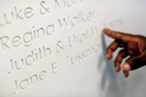 A portion of the new Hattiloo's donor wall - JUSTIN FOX BURKS