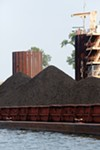 A shipment of coal arrives to feed the Allen Fossil Plant on President's Island