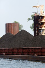 A shipment of coal arrives to feed the Allen Fossil Plant on President's Island - JUSTIN FOX BURKS