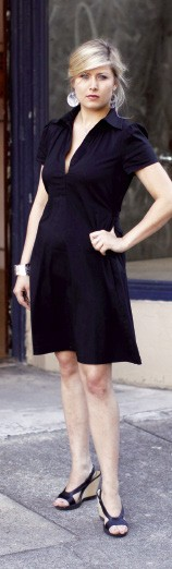"Ada Askew's little black - BCBG dress from Macy's is the perfect example of a classic day-to-night piece. - ""I wear it to work a lot, and I go out in it,"" she says. ""And I got a really good deal on it."" - JUSTIN FOX BURKS"