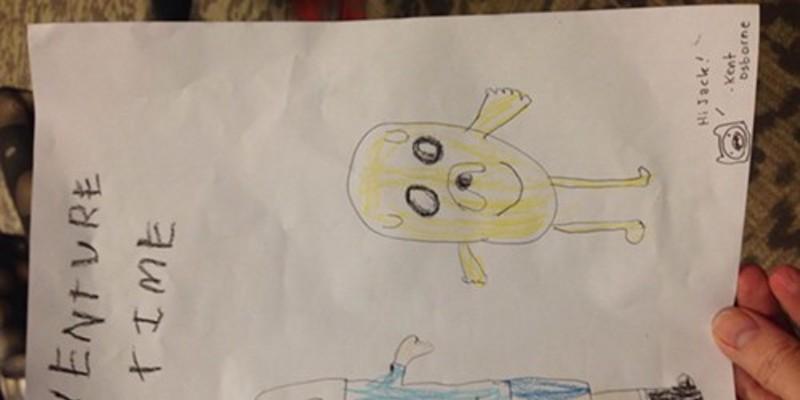 """Adventure Time"" fan art with an autograph by animator Kent Osborne"