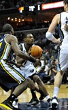 After missing five games with a facial laceration, Tony Allen returned to the lineup.