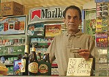 Al Sahan, owner of Raffe's International Beer Market, enforces the new law.