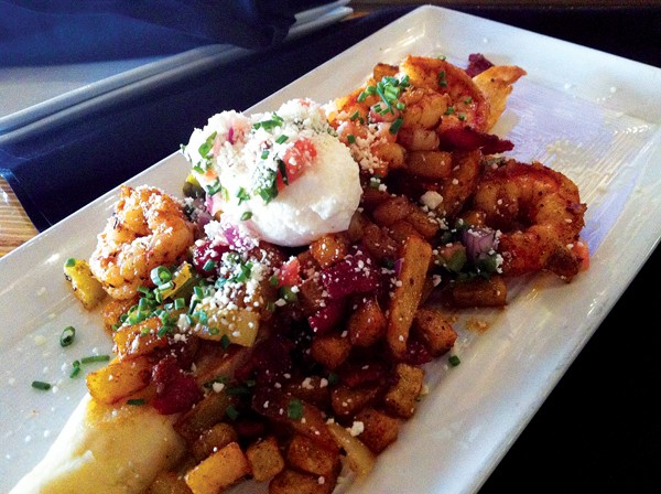 Alchemy's Shrimp & Bacon Hash