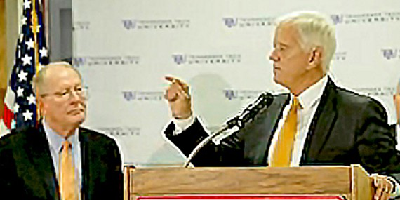 Alexander and Ball at Farm Bureau forum