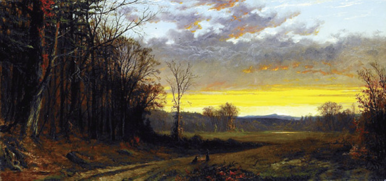 Alfred Thompson Bricher's Twilight in the Wilderness (1865)