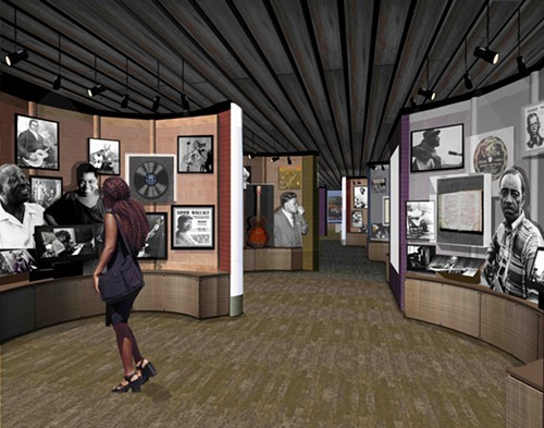 An artists rendering of the Blues Foundation museum