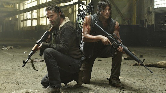 Andrew Lincoln and Norman Remus in The Walking Dead