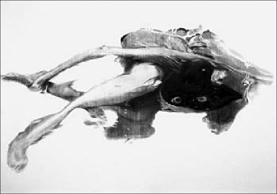 Anne Davey, Girl Underwater, at Perry Nicole Fine Art