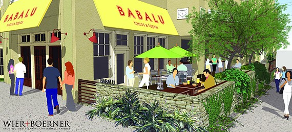 Architectural rendering of Babalu, which will occupy the space that once housed T.G.I. Friday's in Overton Square