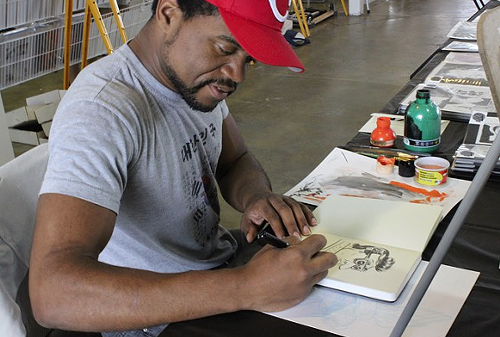 Artist Derrick Dent at the Memphis Comic Expo
