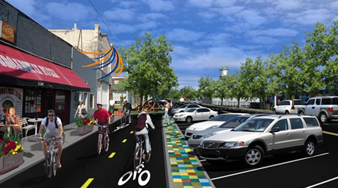 Artist rendering of the Hampline on Broad Avenue