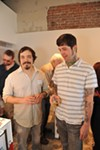 Artist Tony Max on left.