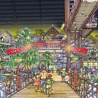 Artist's rendering of Bass Pro's grand entry