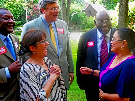Assessor Johnson (eright) got some positive feedback from a good turnout at her fundraiser.