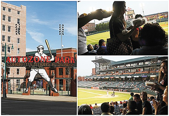 Back this season at AutoZone Park: all-you-can-eat hot dogs, nachos, watermelon, and more for $18
