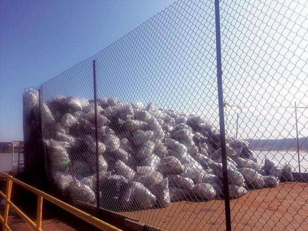 Bags of trash collected from McKellar Lake. - ALEXANDRA PUSATERI